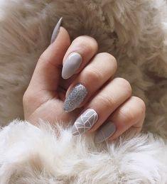 60+ Gray Nail Designs 2017/2018