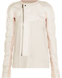 Rick Owens | Paneled Cotton And Silk Jacket | Lyst