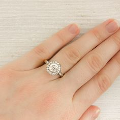 1.10 Carat Diamond Edwardian Cluster Ring | New York Vintage & Antique Estate Jewelry – Erstwhile Jewelry Co NY