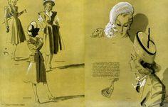 Raphael, Marcelle Dormoy, Marcel Dhorme 1945 Hats, Orcel, Legroux, René Gruau