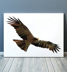 Beautiful Polygonal print for your home and office. SIZES: x and Bird Poster, Chip Carving, Bird Art, Geometry, Poster Sizes, Low Poly, Cute, Prints, Animals