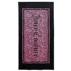 Juicy Couture Logo Animal Print Beach Towel