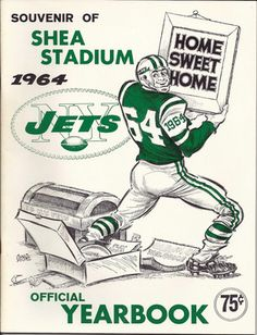 2012 marks the season in the history of the Jets franchise. Although there has been only one Super Bowl in the past 52 years, the memories this franchise has given three generations of New York Jets fans have been priceless. Jets Football, Football Wall, School Football, American Football League, Nfl History, Thing 1, Vintage Football, New York Jets, Sports Logos