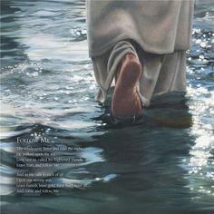 painting of jesus christ walking on water feet only Jesus Our Savior, Jesus Art, Pictures Of Jesus Christ, Christian Artwork, Jesus Painting, Biblical Art, Bible Words, Jesus Loves, Gods Love