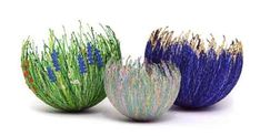 Anne Honeyman - Bowls - 3D Machine Embroidery