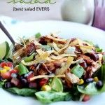 BBQ chicken salad via i heart naptime!  what a great meal on a hot summer night!