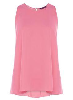 Pink Dip Back Sleeveless Top