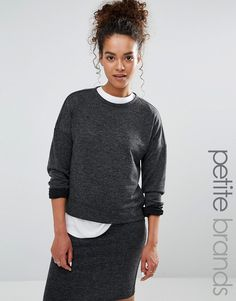 Buy it now. Vero Moda Petite Crop Sweatshirt - Grey. Petite top by Vero Moda Petite, Super soft-touch knit, Crew-neckline, Dropped shoulders, Relaxed fit, Machine wash, 80% Polyester, 15% Viscose, 5% Elastane, Our model wears a UK XS/EU 36/US 4. ABOUT VERO MODA PETITE Chic, modern and Danish, Vero Moda is all about rebooting your wardrobe with fresh basics and suped-up tailoring. Vero Moda Petite brings us the same signature Scandi-cool vibe and relaxed pieces, only this time perfectly…