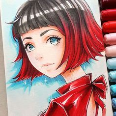 So happy this bloody friday is finally over! Anime Drawing Styles, Manga Drawing, Manga Art, Arte Copic, Copic Art, Manga Anime, Anime Art, Art And Illustration, Pretty Art