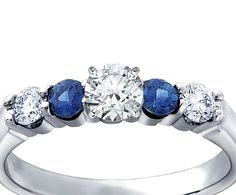 Bella Sapphire and Diamond Engagement ring bluenile.com