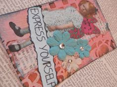 ACEO ATC one-of-a-kind Original Express Yourself by PaperPastiche