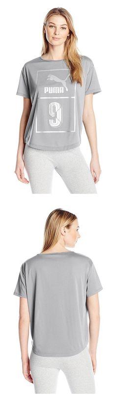 $21 - PUMA Women's Short SLeeve Top Light Gray Heather #puma