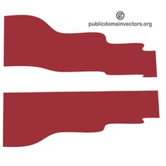 Vector graphics of the wavy flag of Latvia, a country in Northern Europe.