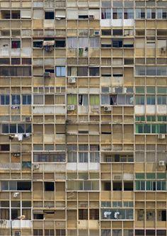 Luanda urban delirium, Angola by Eric Lafforgue Worldwide Photography, Too Close For Comfort, Derelict Buildings, Tower Block, Eric Lafforgue, Slums, Built Environment, Architecture Details, Mosaic