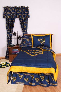 West Virginia Bed in a Bag Full - With Team Colored Sheets - WVABBFL by College Covers