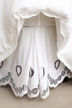 Eyelet Embroidered Bedskirt - anthropologie.com #anthrofave