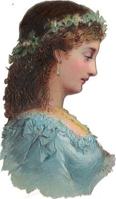 Oblaten Glanzbild scrap die cut chromo lady Dame femme 10cm head portrait