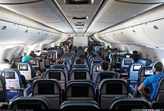 Delta Airlines Boeing 767-332/ER refurbished economy class cabin (Airliners.net)