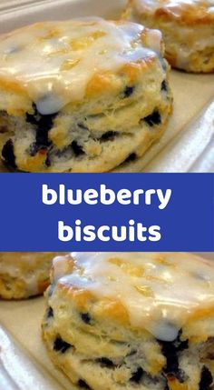 blueberry biscuits You'll need : 6 Tbsp butter flour 2 Tbsp sugar 5 tsp baking powder ½ tsp salt blueberries buttermilk 1 eggs blueberries (don't thaw if using frozen) How to make it: Combine flour, sugar, baking powder, and salt in a large Brunch Recipes, My Recipes, Dessert Recipes, Cooking Recipes, Favorite Recipes, Bread Recipes, Appetizer Recipes, Quiches, Blueberry Biscuits