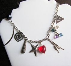 My Vintage 1980s Punk Charm Necklace by Scentedlingerie on Etsy, $18.00