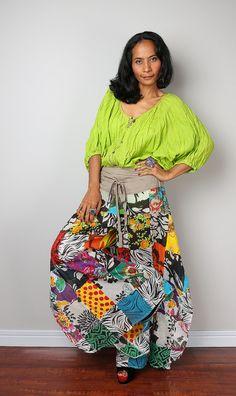Boho Patchwork pants   Comfy Wide leg boho pants : Boho by Nuichan