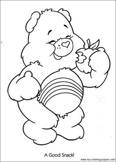 Care Bears Coloring-048 Dover Coloring Pages, Quote Coloring Pages, Cartoon Coloring Pages, Printable Coloring Pages, Coloring Sheets, Coloring Books, Coloring For Kids, Adult Coloring, Mickey Mouse Coloring Pages