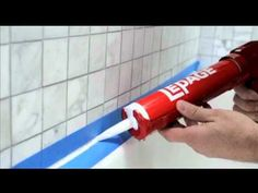▶ How to Seal Around A Tub Or Shower - YouTube