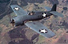 American Grumman F6F Hellcat squadrons VF-1 over California 1943.