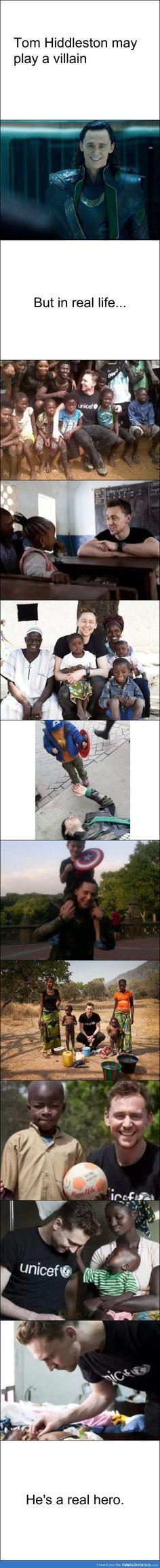 Tom Hiddleston. Meu herói.