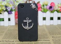 Silvery Anchor Case Cover for iPhone 4gs\ 4s by fashioncase