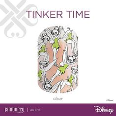 Tinker Time. The Disney Collection by Jamberry, Volume 3. Launching Wed 28th Sept 2016. http://nitag.jamberrynails.com.au
