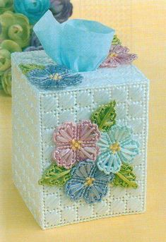 RAFFIA BOUQUET FLOWERS TISSUE BOX COVER PLASTIC CANVAS PATTERN INSTRUCTIONS   | Crafts, Needlecrafts & Yarn, Embroidery & Cross Stitch | eBay!