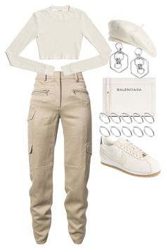 """""""Untitled #2615"""" by mariie0h ❤ liked on Polyvore featuring Sies Marjan, Balenciaga, NIKE, ASOS, Brixton and BaubleBar"""