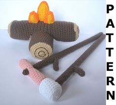 Camp Fire Crochet Pattern - finished items made from pattern may be sold. $5.00, via Etsy.