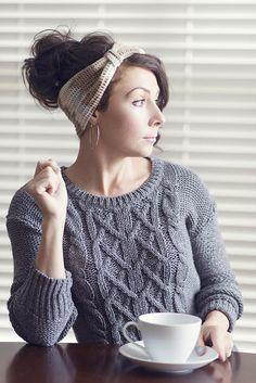 free Latte crochet headband pattern