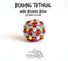 Mini Beaded Bead Tutorial Beaded Bead Pattern DIY PDF by ensaga