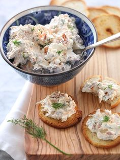 Smoked Salmon Spread is great on crackers, crostini and veggies too.
