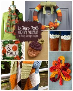 15 Fall Crochet Patterns that will be sure to get you in the mood for the upcoming season change.