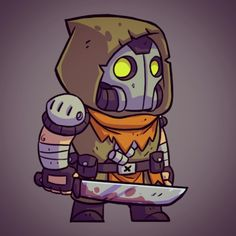 One of the enemy sprites from Bullet Age. #BulletAge #gamedev #photoshop #cintiq #halfbot