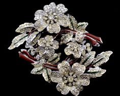 20% OFF - Stunning CORO DUETTE Quivering Camellias Brooch Pin/Dress Clips