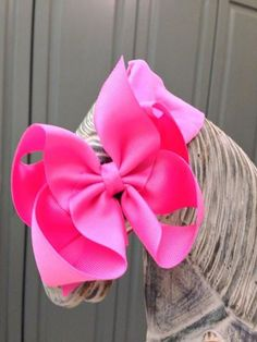 """LSB Large Stretchy Band with 5"""" Grosgrain Bow - Size 6M-3T - {1.5"""" ribbon; bow is 5"""" long & 4"""" high} Price: $11.99, Free Shipping Options: White (qty 3), Soft Pink (qty 3), Pink (qty 3), Fuchsia (qty 3), Yellow (qty 4), Baby Blue (qty 4), Navy Blue (qty 3) Add-ons: White, Soft Pink, Pink, Fuchsia, Yellow, Baby Blue, Navy Blue, Quantity  To purchase comment Sold, Size, and Email Address! https://www.facebook.com/LambsinIvy #topquality #supersoft #lambsinivy"""