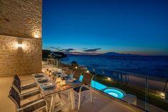 Zakynthos Greece, Beach Villa, Living Room Kitchen, Luxury Villa, Photo Galleries, Exterior, Mansions, House Styles, Gallery