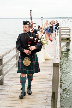 If you are scottish, have a bag piper play you in for a big entrance. He Married the Girl Next Door: Katie and Sander's Wedding in Duxbury » Fucci's Photos of Boston | Boston Wedding Photographer