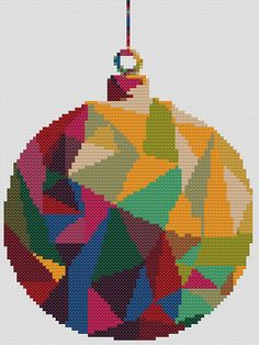 Christmas Bauble cross stitch chart This stylish cross stitch design makes a fantastic Christmas decoration or gift. DESIGN DETAILS Stitch count: 77 wide by 108 high Finished size: Approx 13.75 cm x 19.25 cm (5 1/2 x 7 3/4 inches) when stitches on 14 count Aida or 28 count even