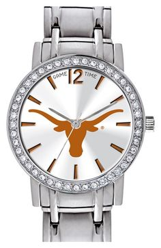 'College All Star - University of Texas, Austin' Crystal Bezel Bracelet Watch…