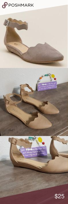 fae1cc12d45 💐Beige cute flats Flats with a very small wedge heel like seen on the  pictures