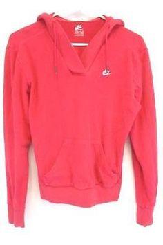 32d284987f99 Nike Sportswear Women s Pullover Hoodie Sweatshirt Gym Hot Pink Size Medium