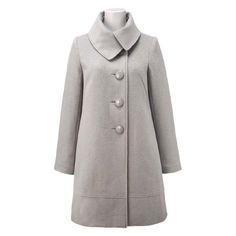 Convertible collar coat