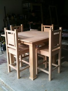 My first dining table and chairs project   Do It Yourself Home Projects from Ana White