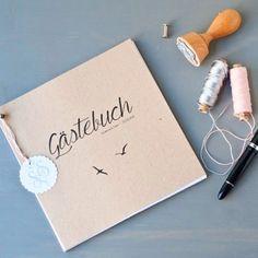 Heute gibt es ein DIY für ein Gästebuch für eine Hochzeit auf dem Blog! Inkl…